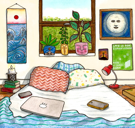 the great bed wave, chambre n°52, 2020