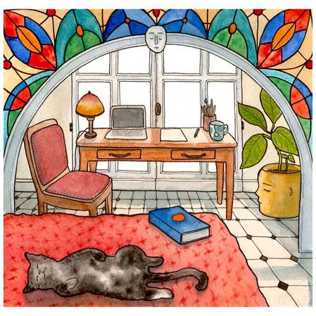 chambre au chat, chambre n°54, 2020