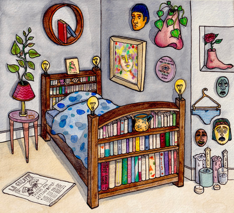A bedroom where it's okay, chambre n°33.