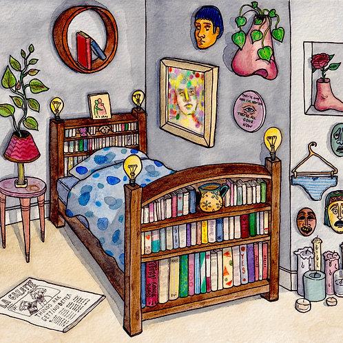Carte postale - A bedroom where it's okay