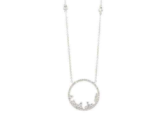 Diamantringkette