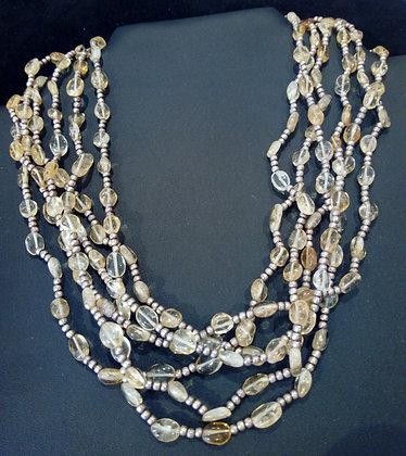 collier multi rang ambre