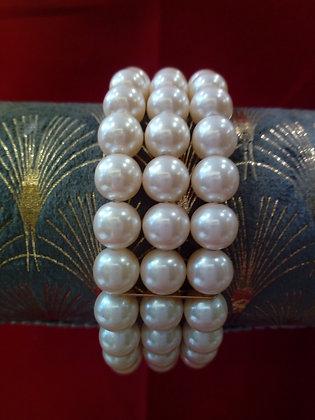 Bracelet trois rangs perles