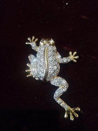 Broche grenouille