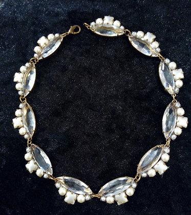 Collier cristal retro
