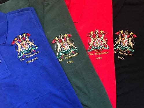 Clan Farquharson Polo Shirt, Personalised