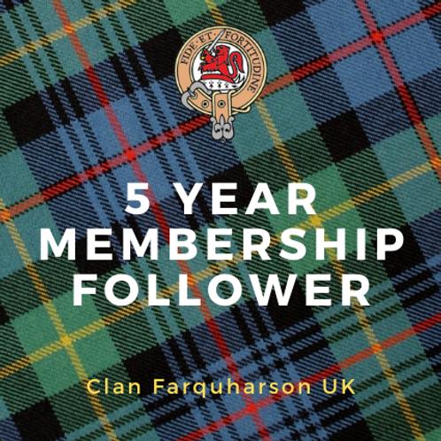 5 Year MembershipFollower