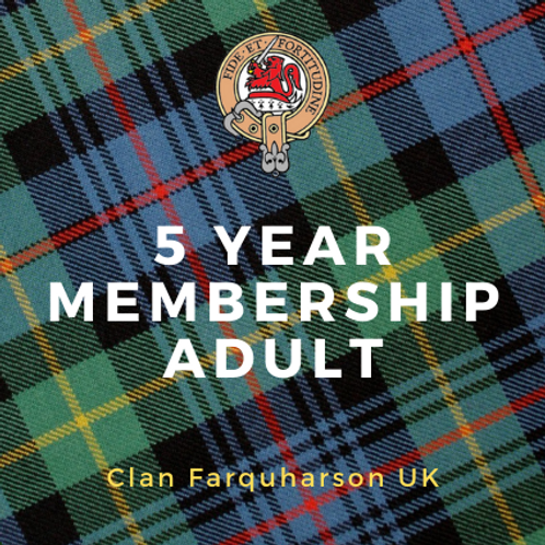 5 Year Membership Adult