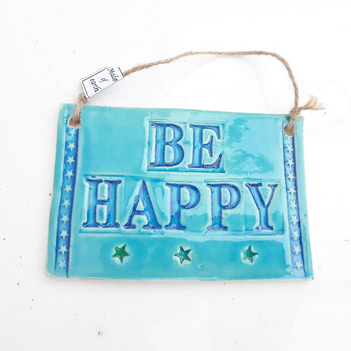 Wall hanging message plaque