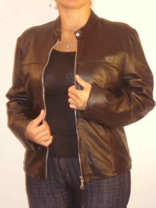 Italian Nappa Lambskin Leather Jacket Black