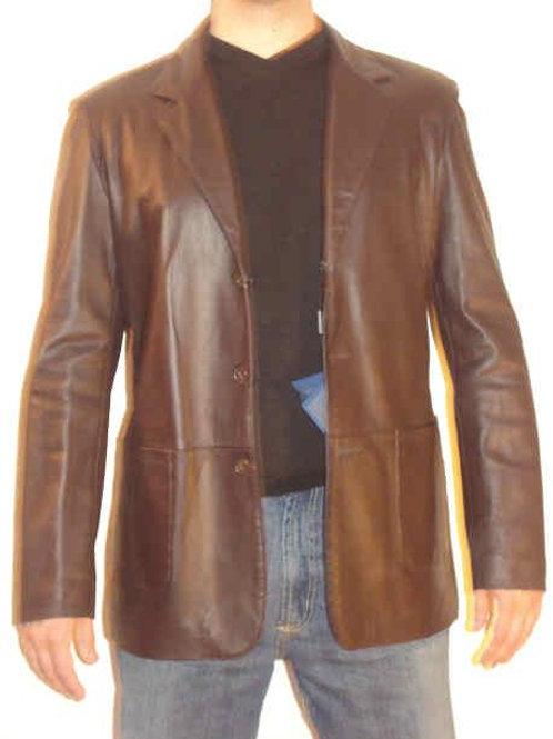 Italian Nappa Lambskin Leather Jacket brown