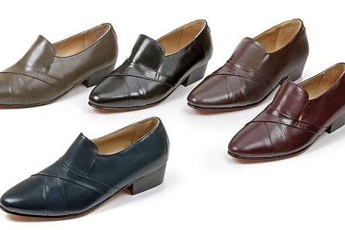 cuban heel kid skin leather