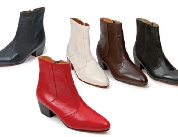 giorgio boot spanish kid skin cuban heel