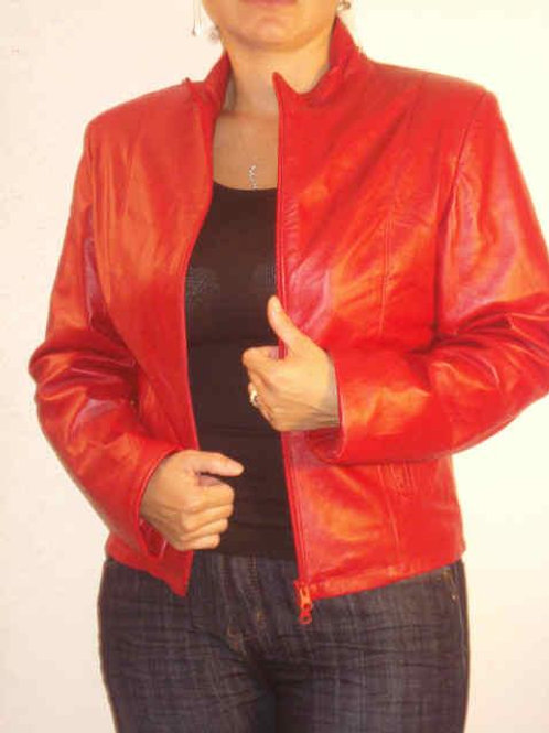Italian Nappa Lambskin Leather Jacket         ed