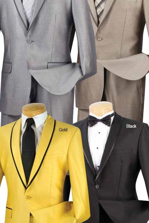 sharkskin  1 button suit slim fit #ssh-1