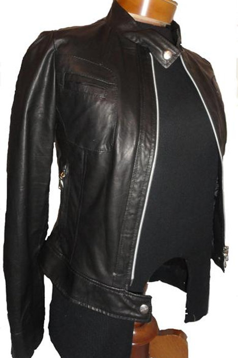 Italian Nappa Lambskin Leather Jacket black 2