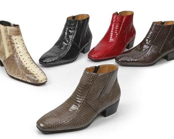 snake skin boot w/ cuban heel