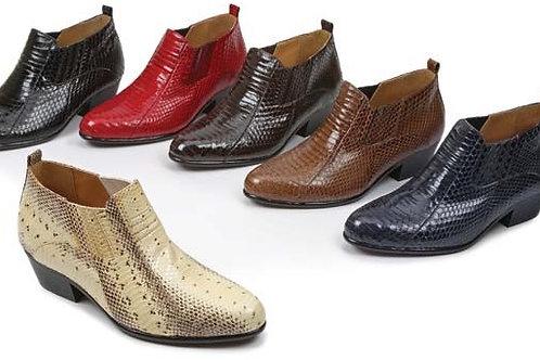ankel snake skin boot