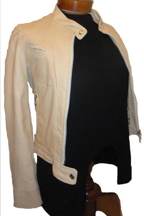 Italian Nappa Lambskin Leather Jacket White