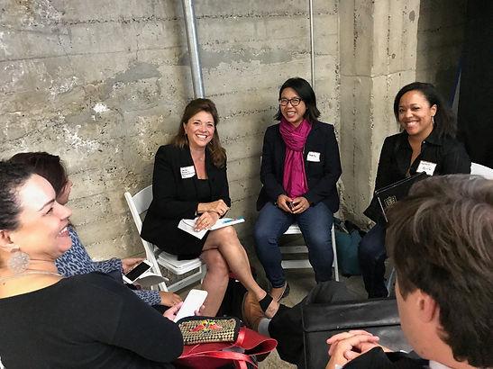 Carol Ann Wentworth speaking at Women in Cleantech meeting