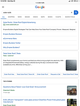 Solar Roofs - Search Ad - Tablet - 5-20-