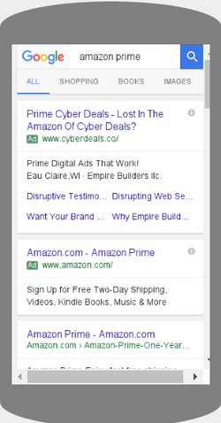 Amazon Prime Ads 2016