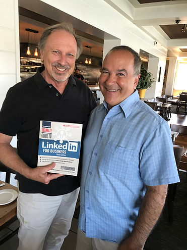 Eric Wentworth with Wentworth Executive Recruiting and LinkedIn expert Ted Prodromou