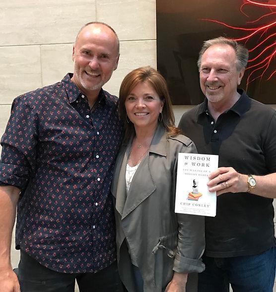 Carol Ann Wentworth & Eric Wentworth with Chip Conley, author of Wisdom @ Work