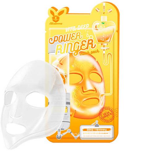 ELIZAVECCA Витаминизированная тканевая маска для повышения упругости лица