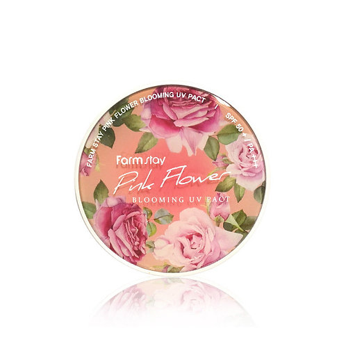 FARMSTAY Компактная пудра с экстрактами лепестков цветов №23 темно - бежевый