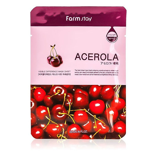 Farmstay Тканевая маска Visible Difference Mask Sheet Acerola