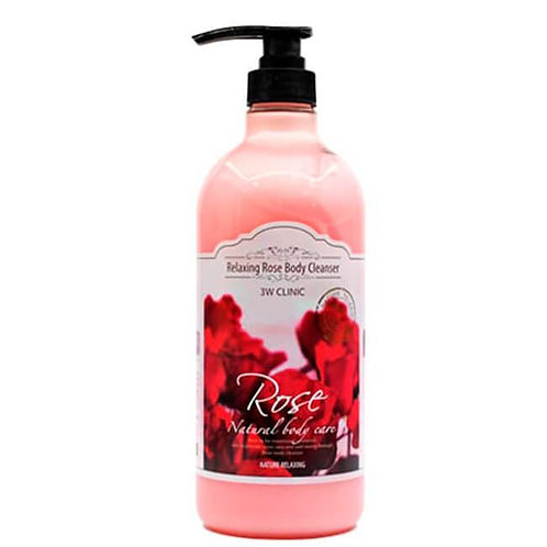 3W Clinic гель для душа с экстрактом розы Rose Relaxing Body Cleanser