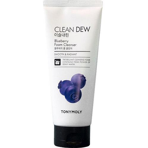 Tony Moly Пенка с черничным экстрактом Clean Dew Foam Cleanser Blueberry