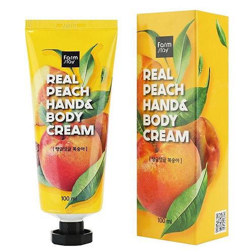 FARMSTAY Крем для рук и тела с персиком Real Peach Hand and Body Cream