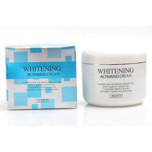 Jigott Отбеливающий крем тройного действия Whitening Activated Cream