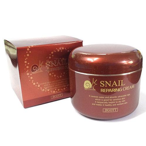 Jigott Крем для лица Восстанавливающий, с экстрактом улитки Snail Repair Cream
