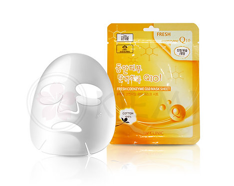3W CLINIC Тканевая маска Fresh Coenzyme Q10 Mask Sheet