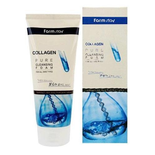 FARMSTAY Коллагеновая пенка для умывания Collagen Pure Cleansing Foam