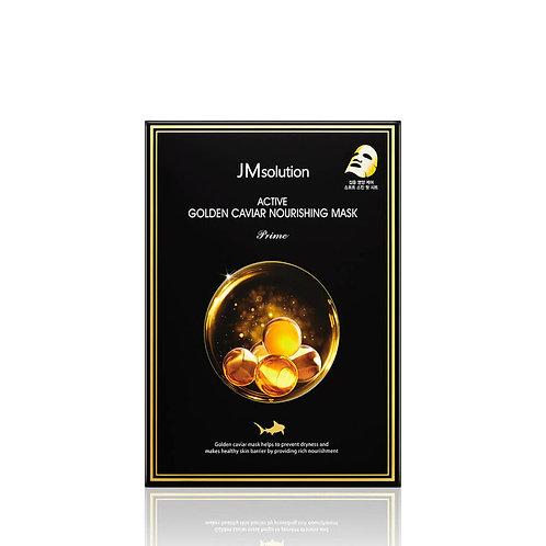 JMsolution Ультратонкая тканевая маска с золотом и икрой Active Golden Caviar