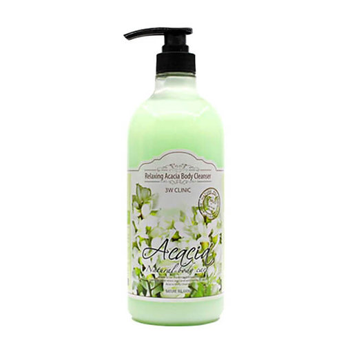 3W Clinic гель для душа с экстрактом масла акации Acacia Relaxing Body Cleanser