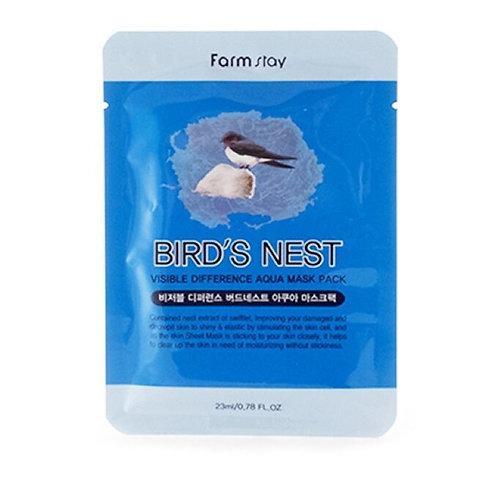 Тканевая маска ласточкино гнездо FarmStay Bird's Nest Mask Pack