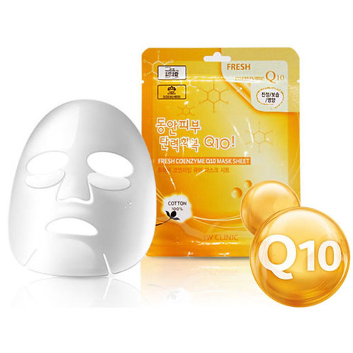 3W Clinic Тканевая маска для лица с коэнзимом Q10