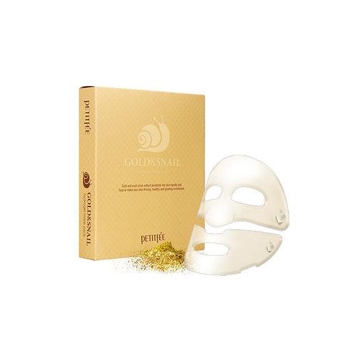 PETITFEE Гидрогелевая маска для лица с муцином улитки