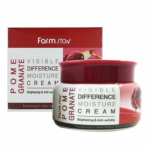 FARMSTAY Увлажняющий крем для лица  Visible Difference Moisture Cream Pomegrana
