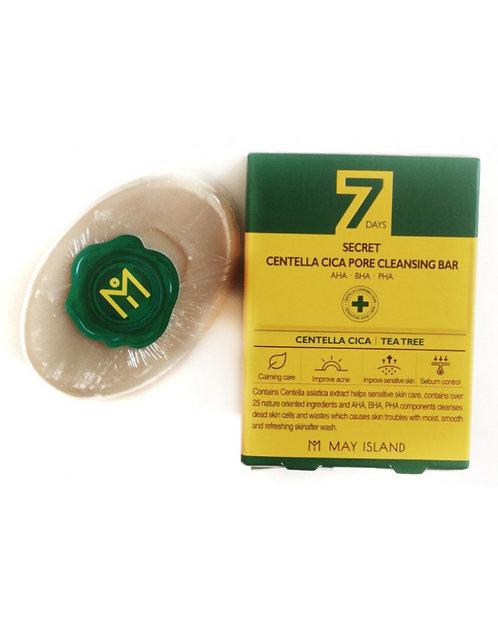 7Days Мыло для проблемной кожи Secret Centella Cica Pore Cleansing Ba