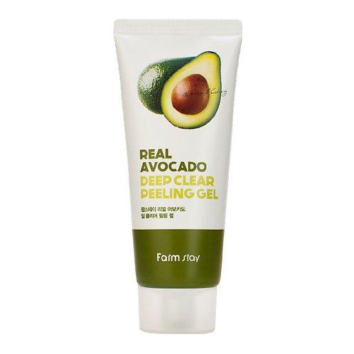 FarmStay Пилинг-гель с экстрактом авокадо Avocado Real Deep Clear Peeling Gel