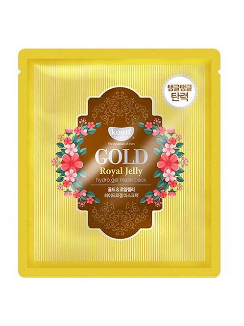KOELF Гидрогелевая маска с золотом и маточным молочком