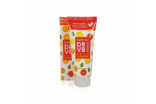 FarmStay Dr V8 Vitamin Foam Cleansing Пенка для умывания с витаминами
