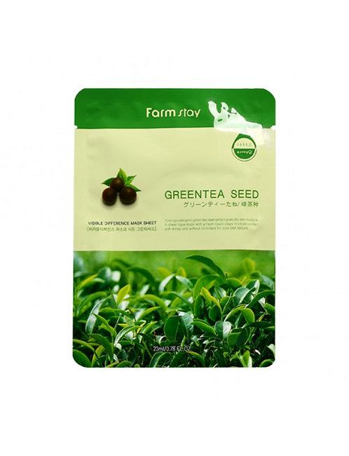 Маска тканевая с экстрактом семян зеленого чаяFarmStay Green Tea Mask Sheet