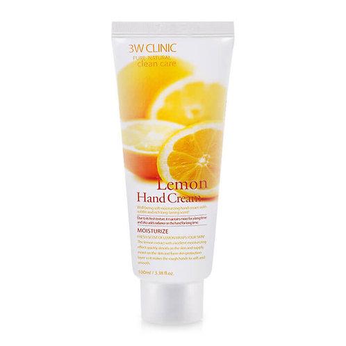 3W Clinic крем для рук с осветляющим экстрактом лимона  Lemon Hand Cream
